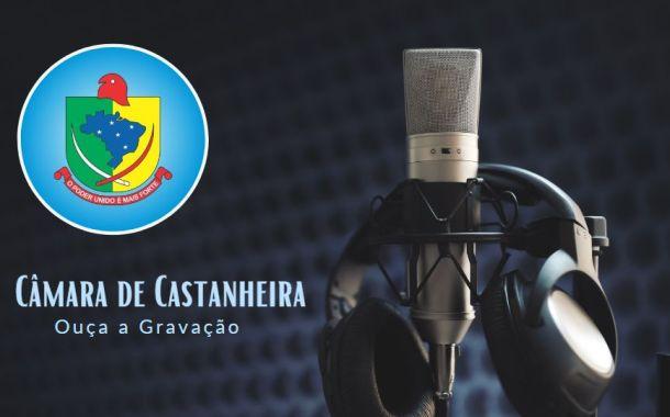 Áudio da 15ª Sessão Ordinária de 2020