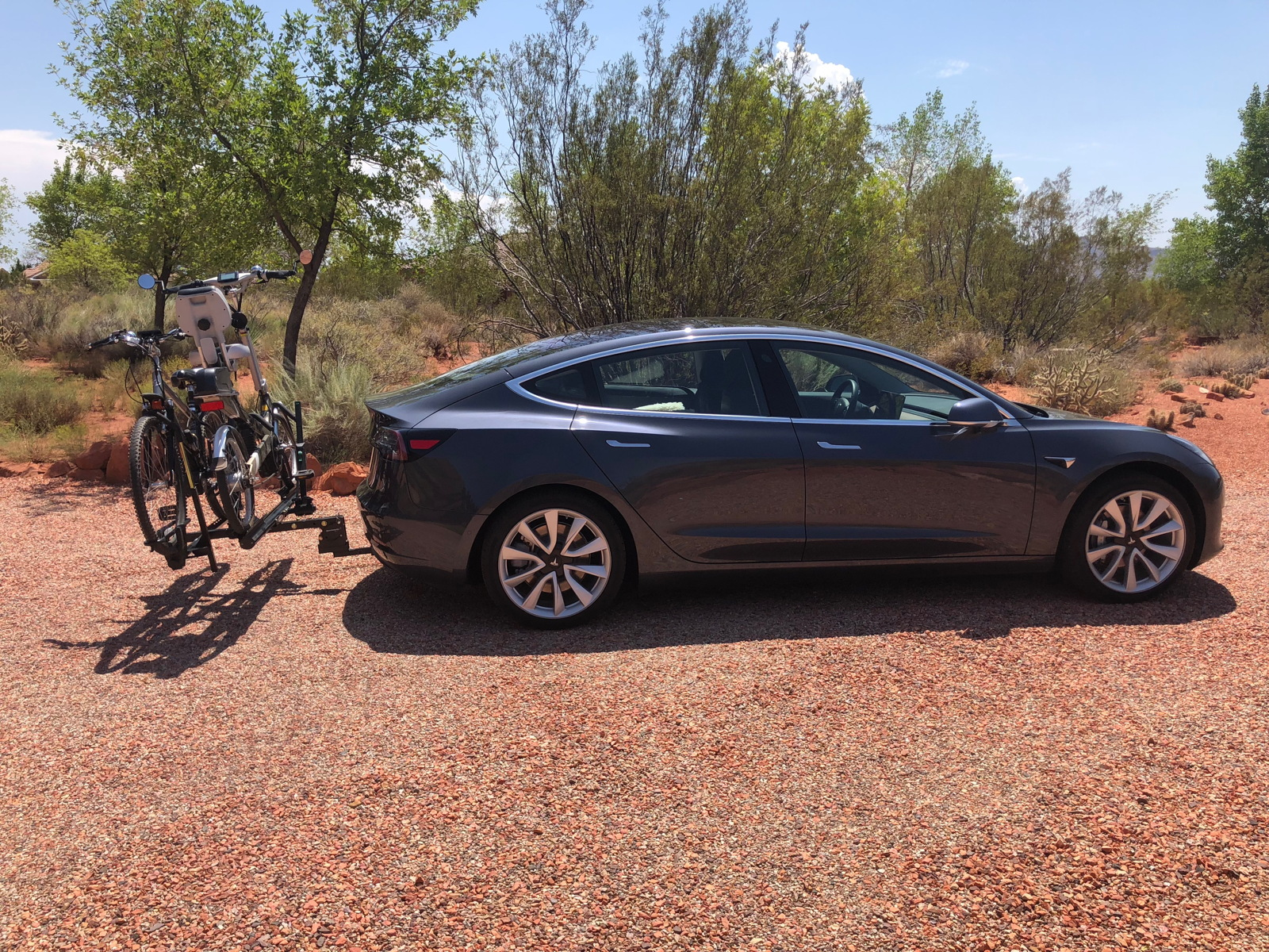 using our bike rack on our model 3
