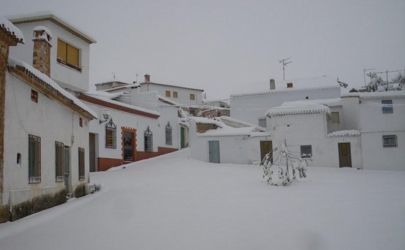 Nevada en el Castillo de Garcimuñoz