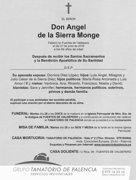 ANGEL DE LA SIERRA MONGE