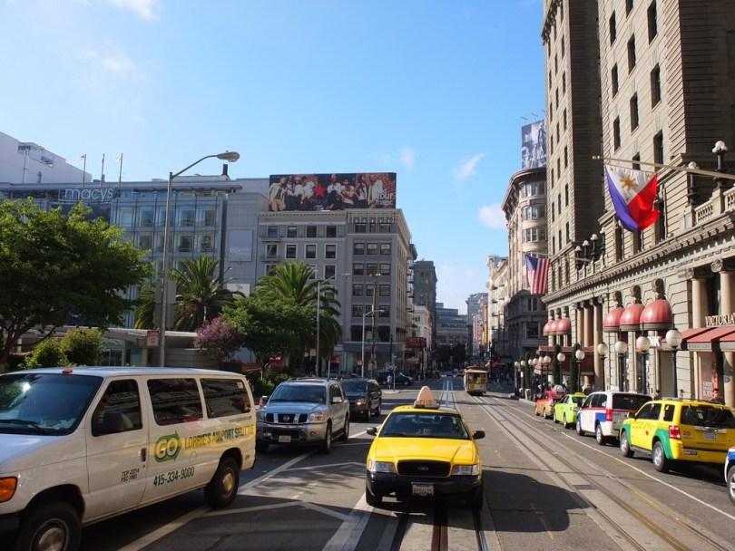 USA San Francisco - centre ville depuis le cable car