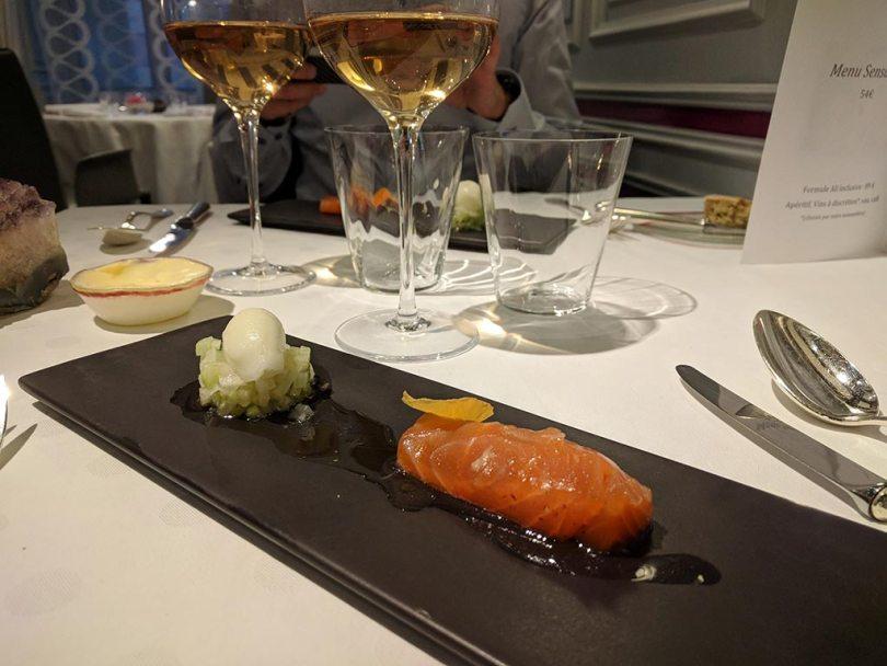 Restaurant Koehler auberge du cheval blanc à Westhalten - saumon gravlax