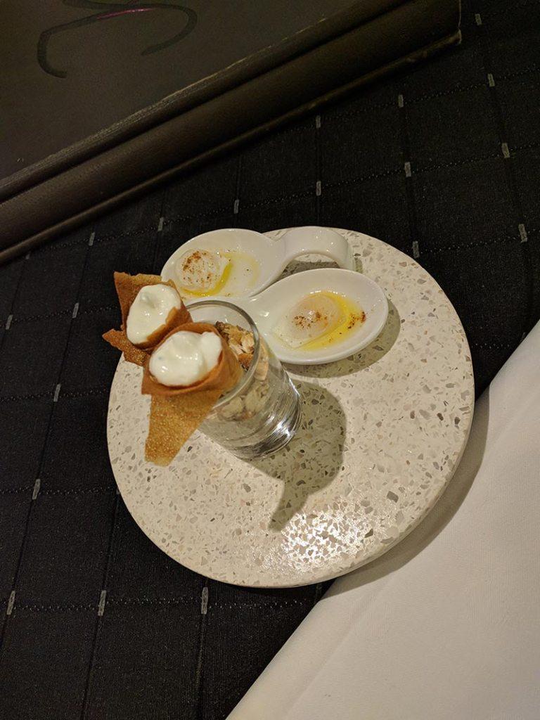 Restaurant Koehler auberge du cheval blanc à Westhalten - mise en bouche