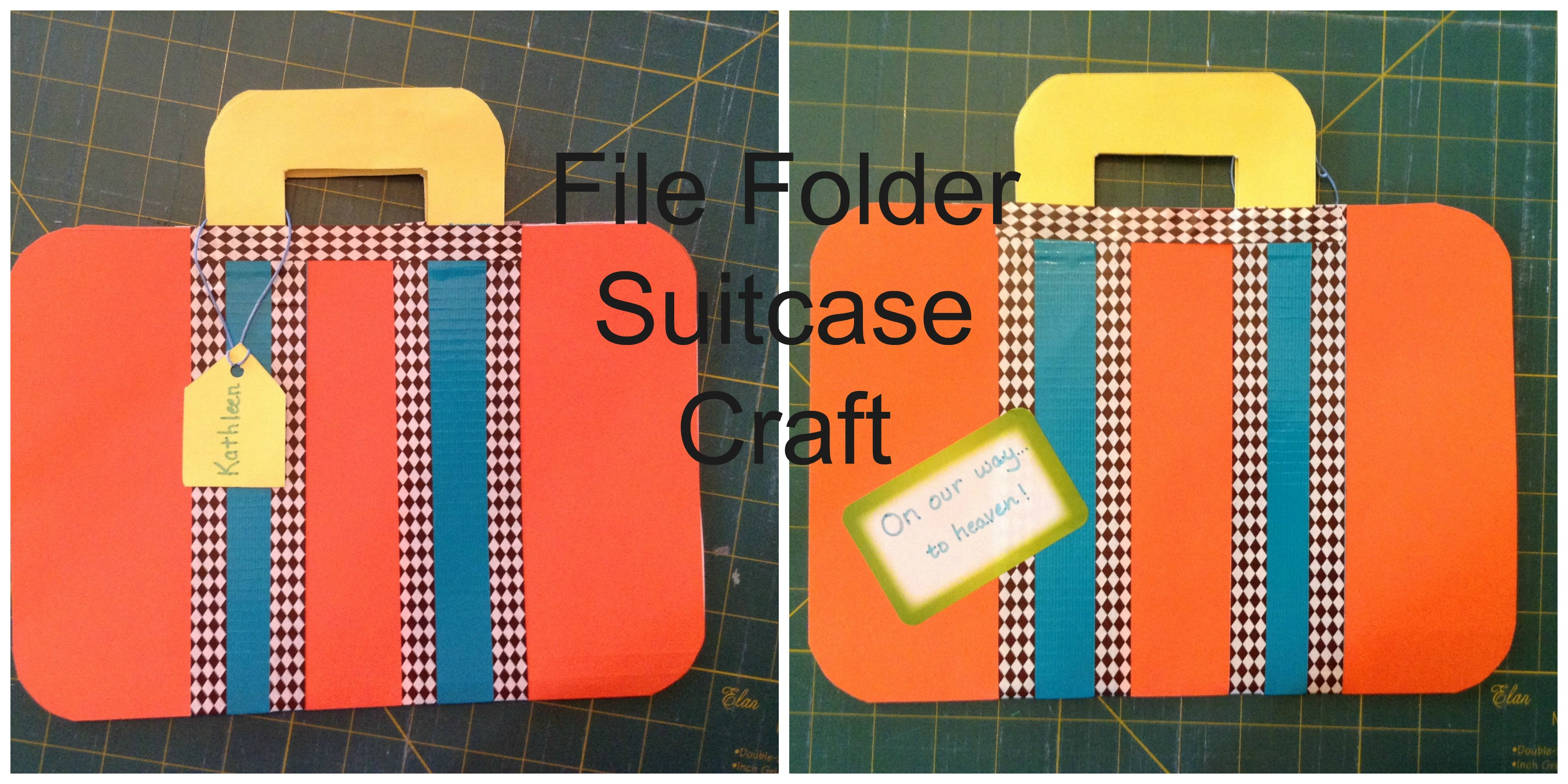 File folder suitcase craft casting my net for Art and craft file decoration