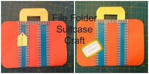 File Folder Suitcase Craft