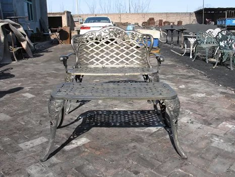 modern cast iron table and chairs with antique bronze color cast iron outdoor dining set