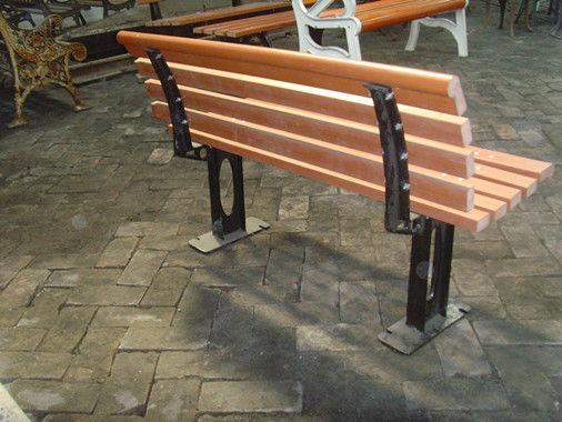 Outdoor Cast Iron Garden Bench Parts Powder Coating Cast