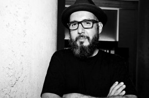 Black and white portrait of Luis Ramirez
