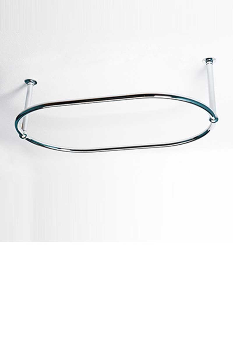 oval shower curtain rail