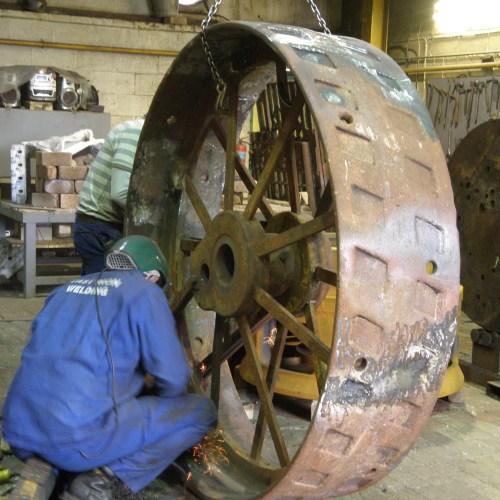 Cast Iron Welding Services Traction Engine Wheel Refurbishment