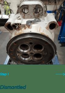 Dismantled Cylinder Head for Marine Welding