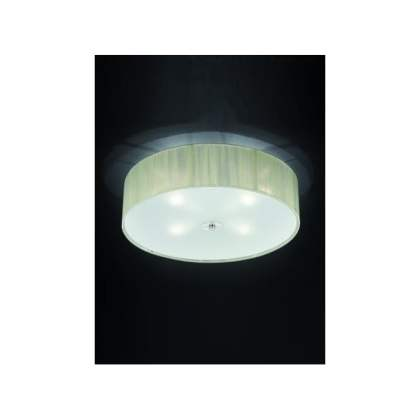 Franklite Desire 4 Light Flush Ceiling Fitting With Cream Thread     Desire 4 Light Flush Ceiling Fitting With Cream Thread Strung Shade