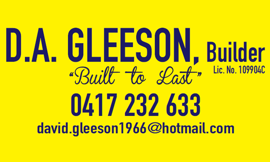 D.A. Gleeson Builders - - Sponsoring the Castle Hill Knights Baseball Club