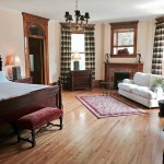 The Walnut Suite is a sight to behold at Castle La Crosse Bed and Breakfast