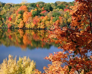 Wisconsin Lakes in Spectacular Fall Color