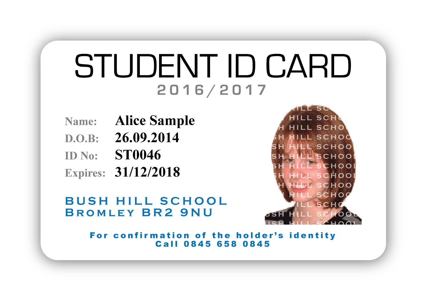 Id card gallery castlemount for School id badge template