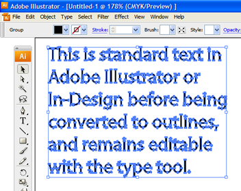 Converting text to outlines - example 3