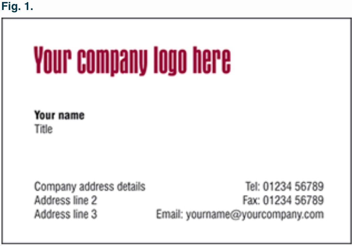 Thermo Business Cards   Raised Print Business Cards