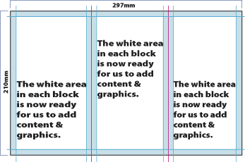 How to design an A4 folded leaflet fig. 4