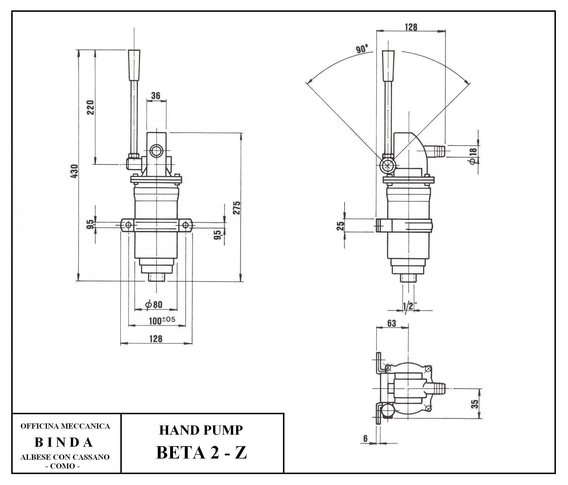 Binda Beta 2 Z Piston Hand Pump Amp Manual Pump