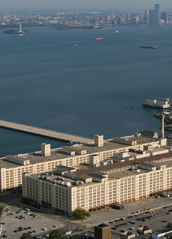 Arial view of Brooklyn Army Terminal