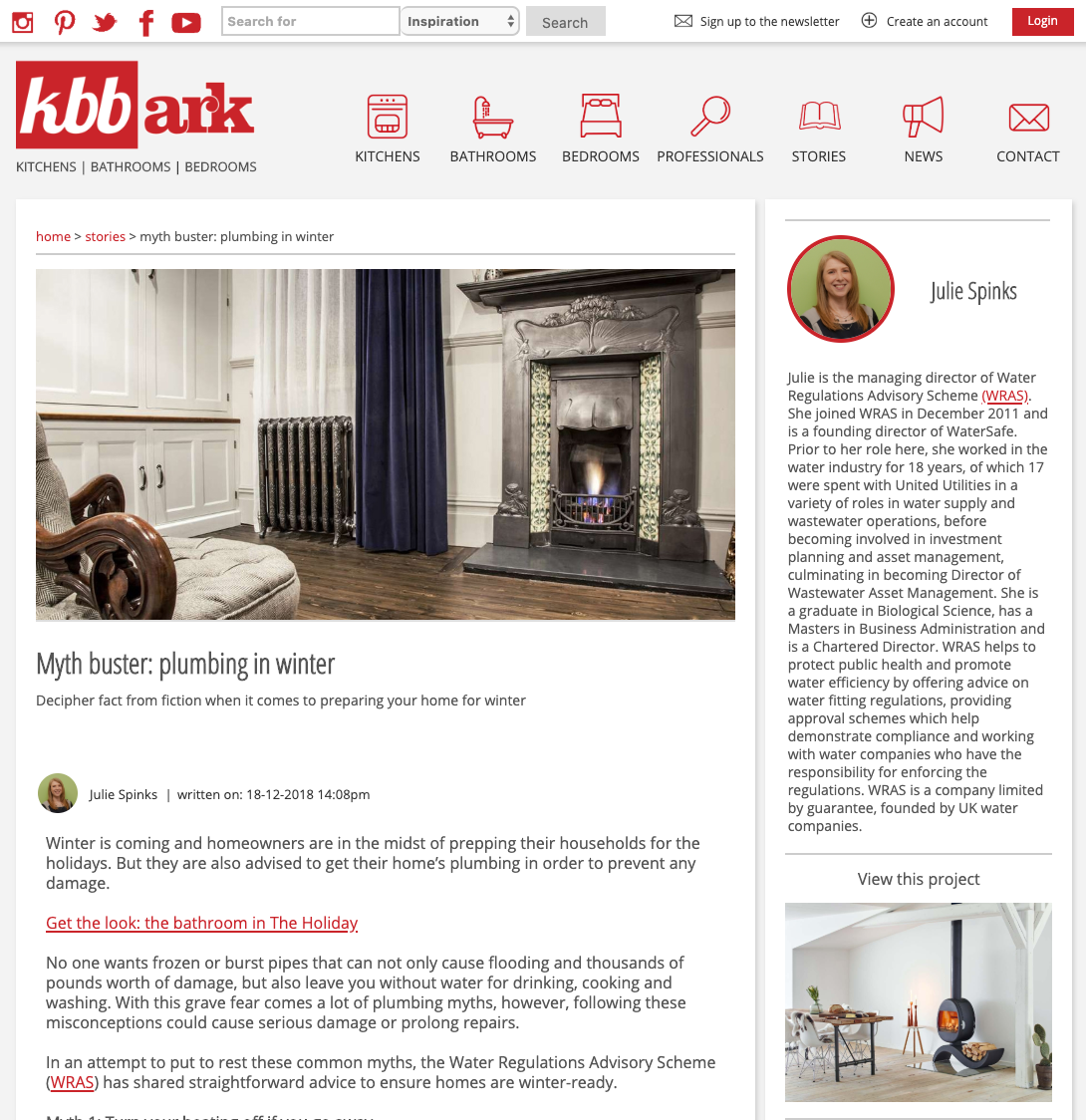 KBBArk Kitchen, Bathroom and Bedroom, December 2018. Article on how to preparing for winter and myth busting.