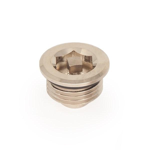 Half inch nickel bleed valve for radiators
