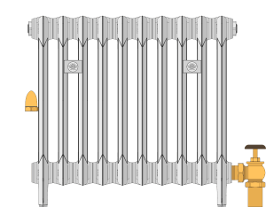 One-pipe steam radiator diagram
