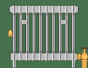 One-pipe steam radiator diagram