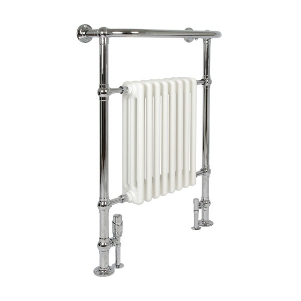Vivien 11 Chrome And White Bathroom Radiator