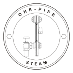 Suitable for one-pipe steam heating systems