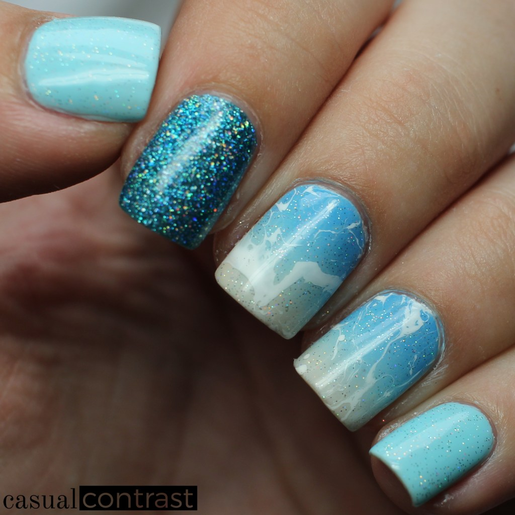 Beach nail art casual contrast beach nails 1 prinsesfo Image collections