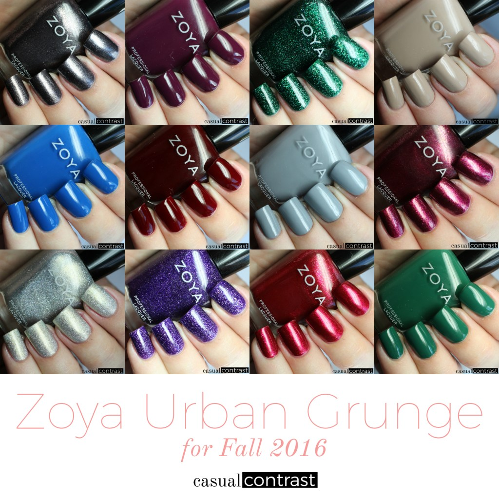 Zoya Urban Grunge Collection • Casual Contrast
