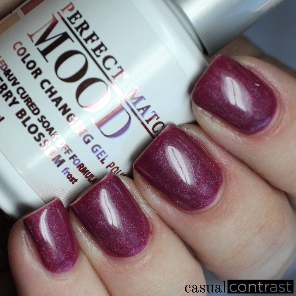 LeChat Cherry Blossom, cold state - LeChat Perfect Match Mood Color Changing Gel Polish: Swatches & Review • Casual Contrast