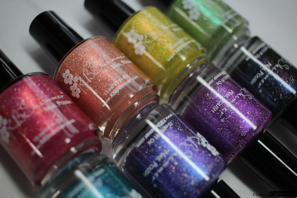 KBShimmer Summer Vacation Collection: Swatches & Review • Casual Contrasts