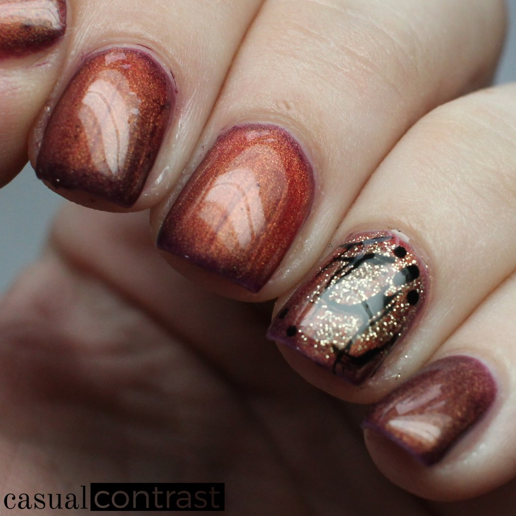 Thermal Splash Florals Nail Art Manicure • Casual Contrast