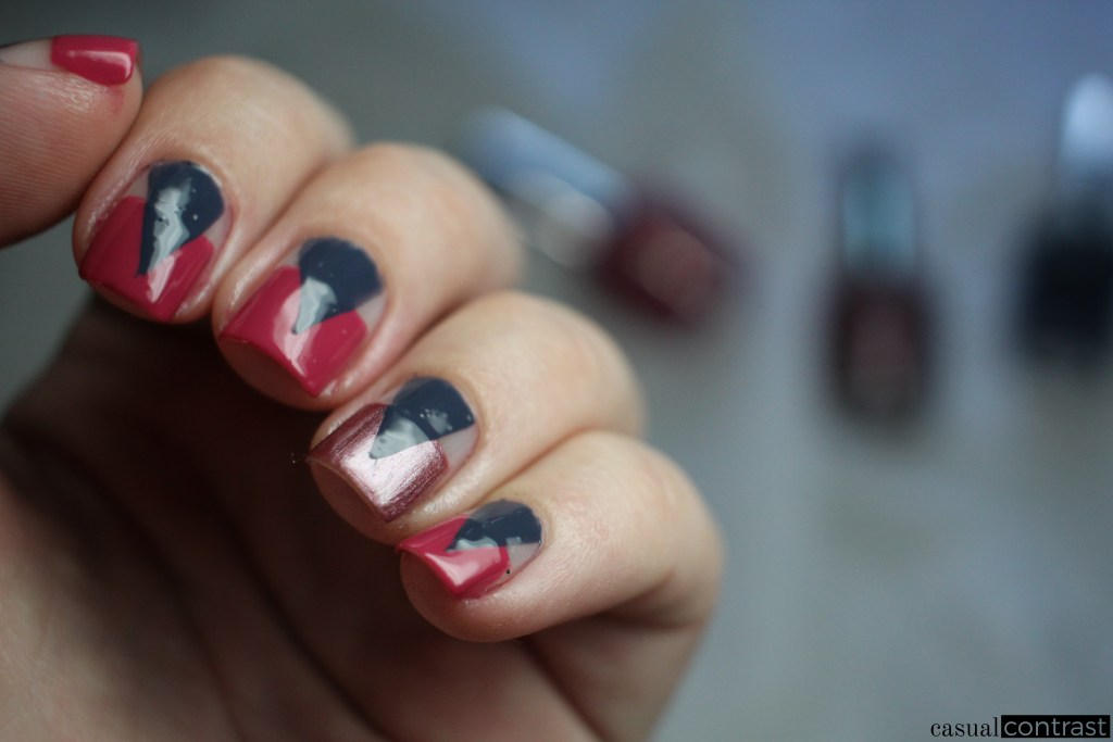 Graphic Nails with OPI Iceland Shades • Casual Contrast