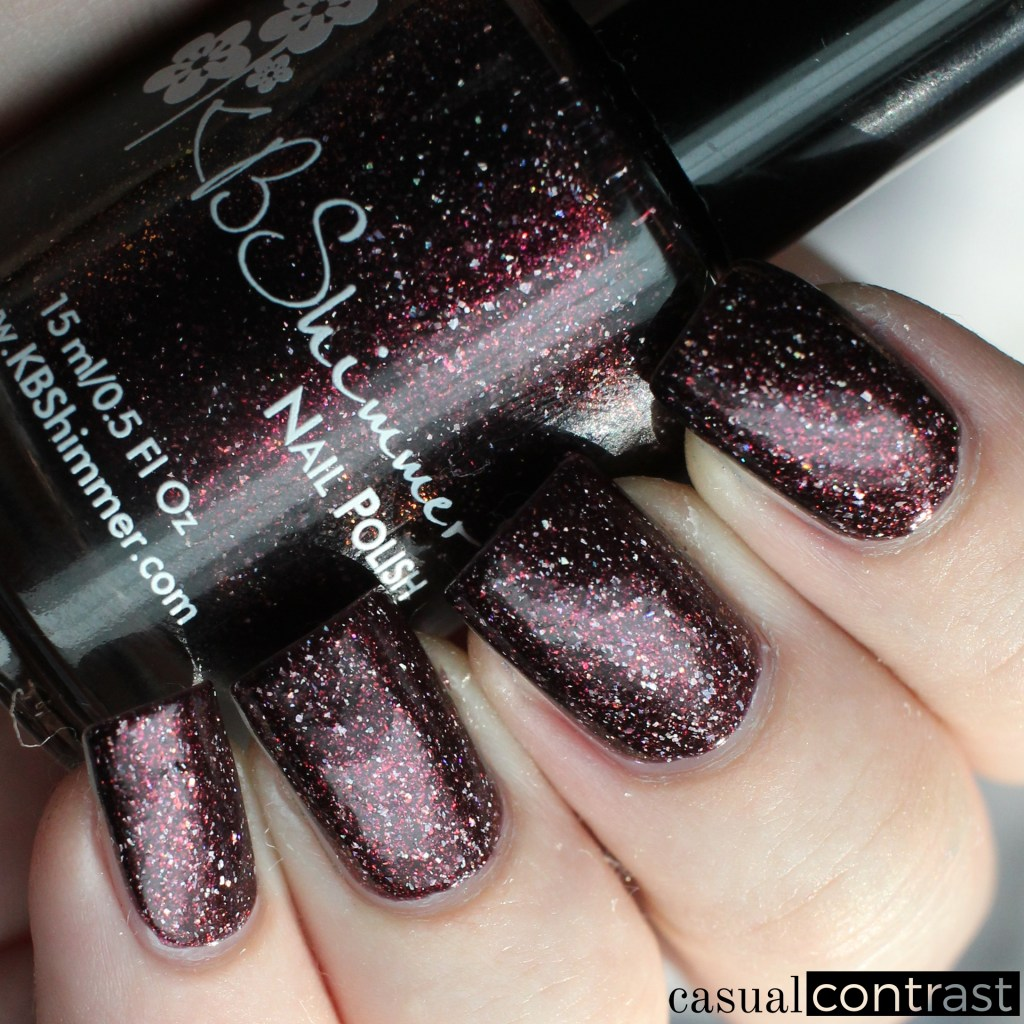 KBShimmer Pour Decisions from the Holo-Day Collection 2017: Swatches & Review! •Casual Contrast