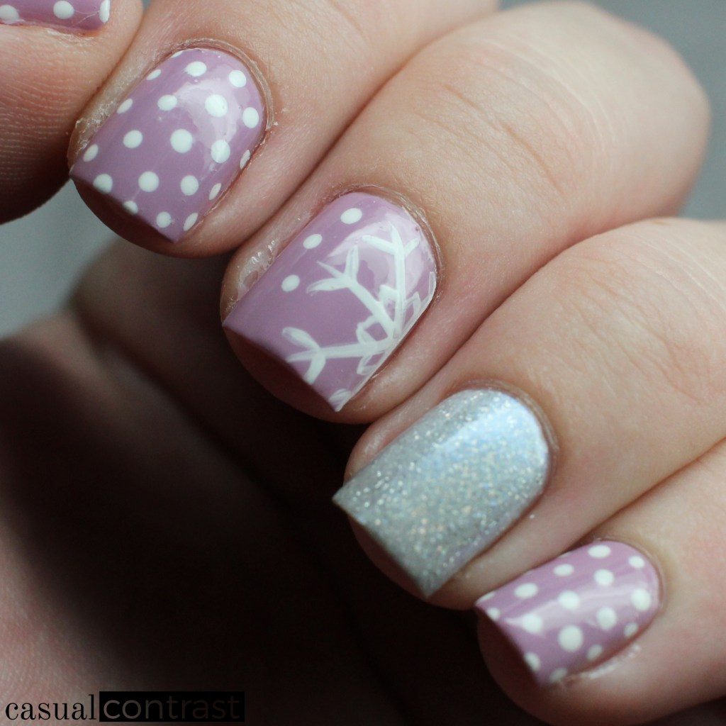 My Yearly Snowflake Nail Art Manicure! •Casual Contrast