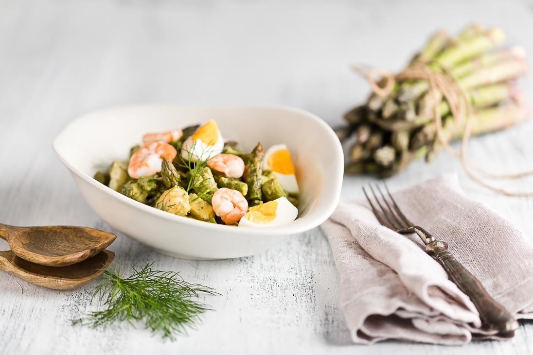 Spargelsalat Spargel Salat Avocado casual cooking österreichischer food blog