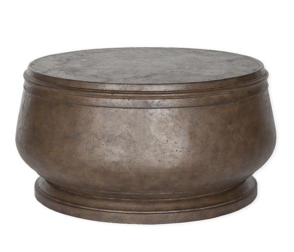 hudson cast stone coffee table