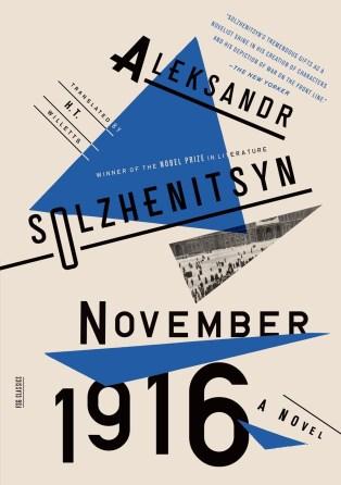 November 1916 by Aleksandr Solzhenitsyn; design by Oliver Munday (FSG / 2014)