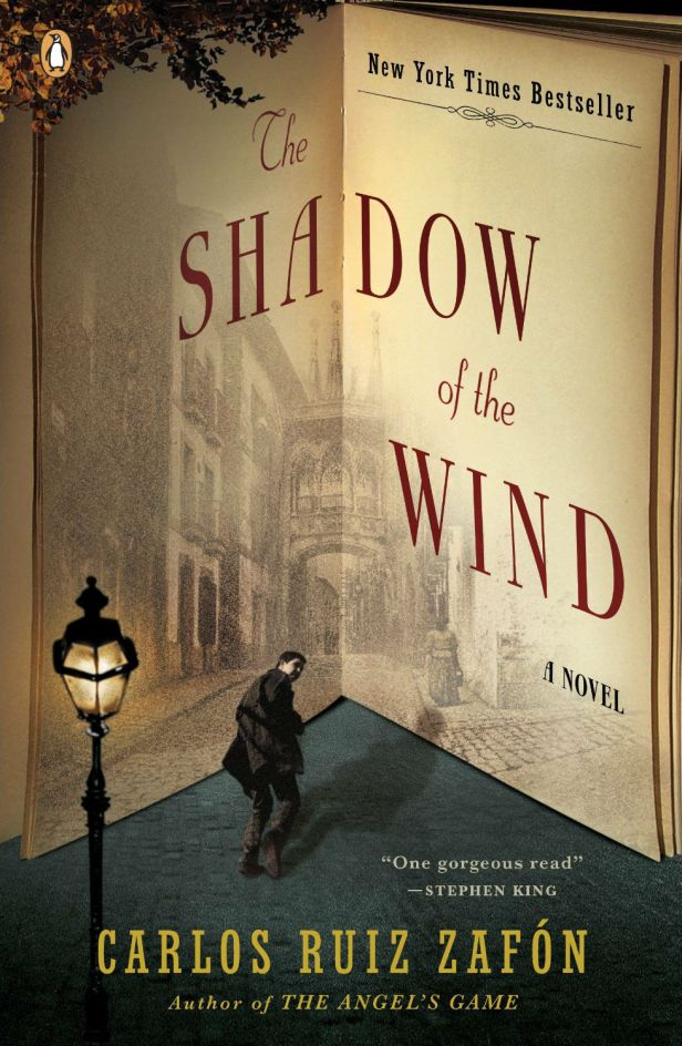 The Shadow of the Wind by Carlos Ruiz Zafon; design by Tal Goretsky (Penguin, January 2005)