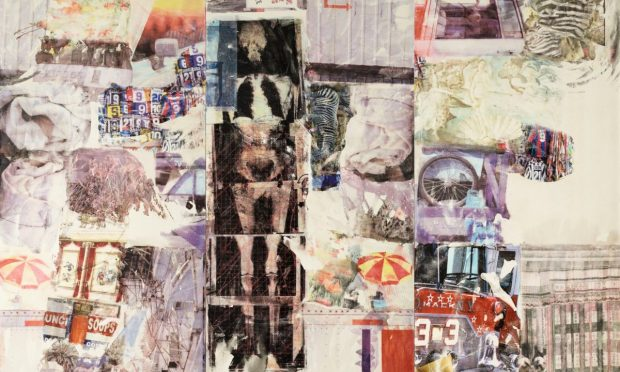 Detail from Rauschenberg's Mirthday Man (1997)