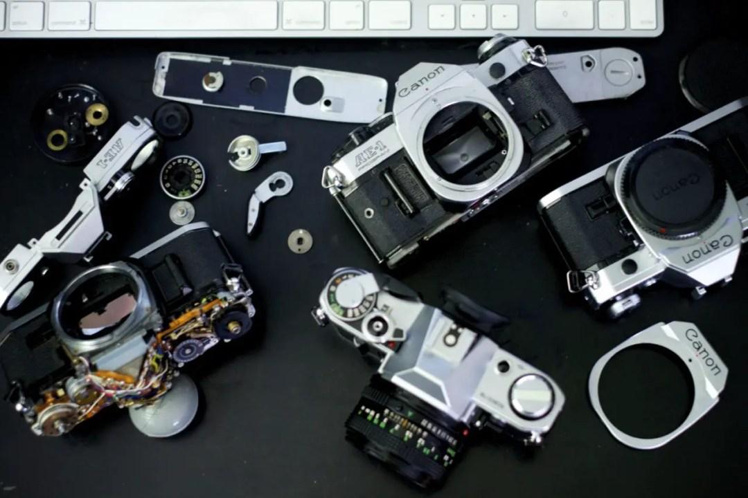 Canon AE-1 parts