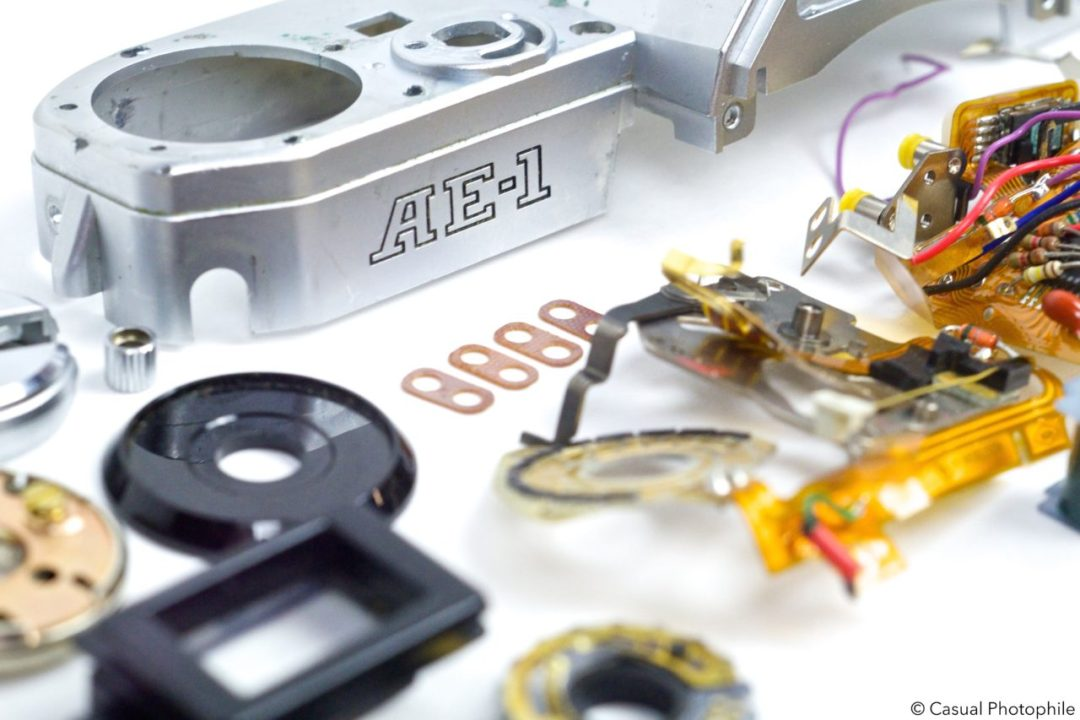 Canon AE 1 Exploded View 3