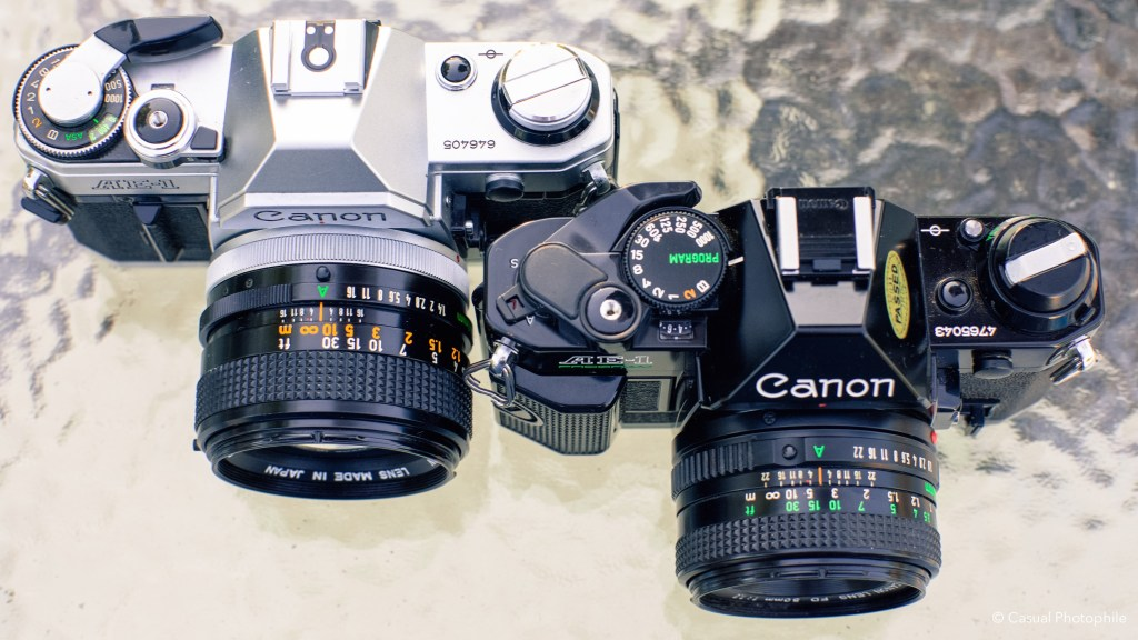 Canon AE-1 vs Canon AE-1 Program Camera Review 1