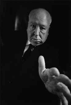 Alfred HITCHCOCK in his office at the Universal Studios in Los Angeles. Ara Güler / Magnum Photos