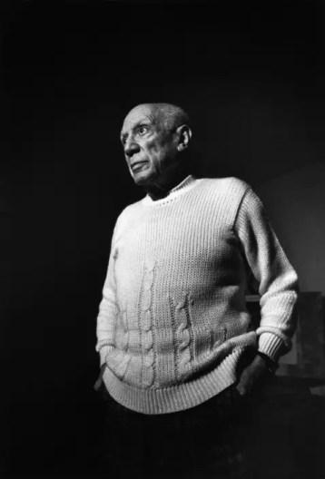 Pablo Picasso the Spanish artist in his studio at Notre Dame de Vie near Cannes, France. Ara Güler / Magnum Photos