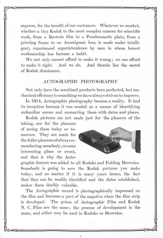 Catalogue Kodak 1918